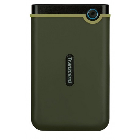 Transcend Disco duro StoreJet 25M3 USB 3.0 1 TB Verde Militar - Envío Gratuito