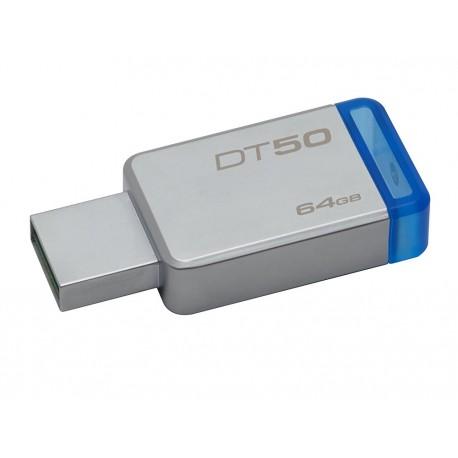 Kingston Memoria USB 3.0 DataTraveler 50 64 GB Azul - Envío Gratuito