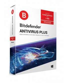 Bitdefender Antivirus Plus 1 Año 3 usuarios - Envío Gratuito