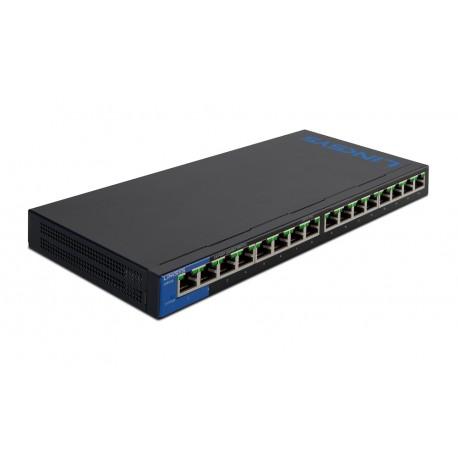 Linksys Switch 16 puertos Gigabit con PoE Negro/Azul - Envío Gratuito