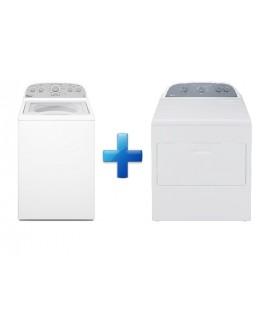Whirlpool Paquete de lavadora y secadora de 19 kg Blanco
