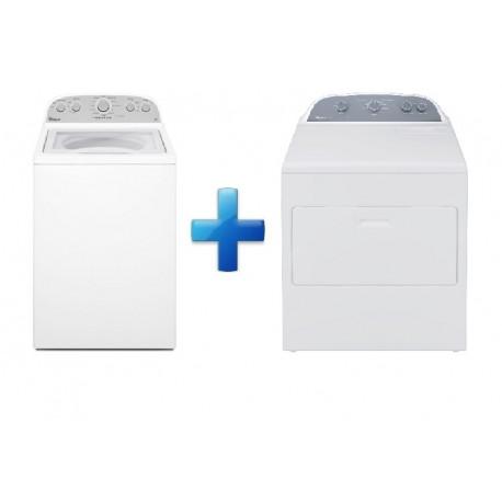 Whirlpool Paquete de lavadora y secadora de 19 kg Blanco - Envío Gratuito