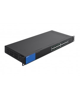 Linksys Switch 24 Puertos Gigabit con PoE Negro/Azul