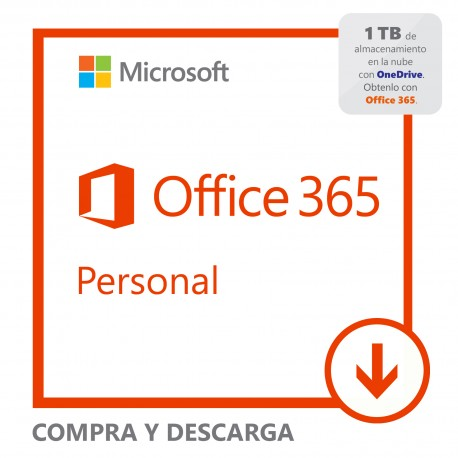 Software Descargable Microsoft Office 365 Personal Blanco - Envío Gratuito