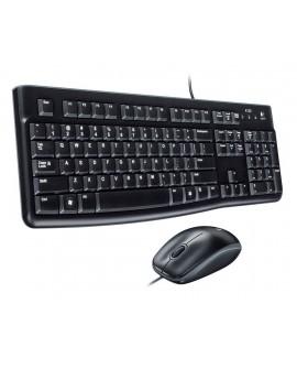 Logitech Combo Teclado y Mouse alámbricos MK120 Negro - Envío Gratuito