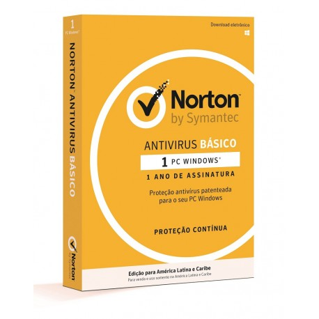 Norton Antivirus básico 1 Año 1 usuario - Envío Gratuito
