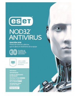 ESET Antivirus NOD32 5 Licencias 1 Año V2018