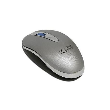 Perfect Choice Mouse con cable retráctil oculto USB Gris - Envío Gratuito