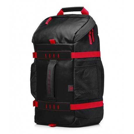 HP Backpack Odyssey Gaming Rojo/Negra - Envío Gratuito