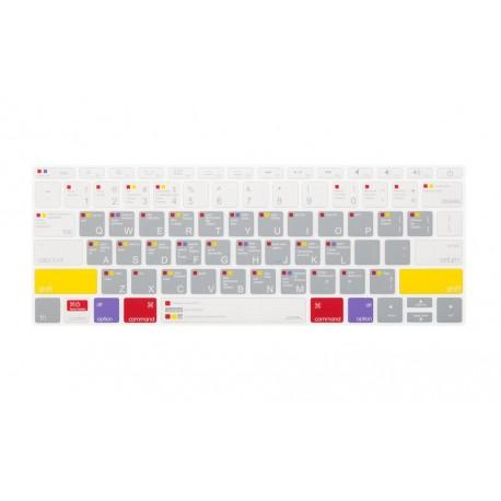 """JCPAL Cubreteclado para MacBook Pro 13"""" ShortCuts Gris - Envío Gratuito"""