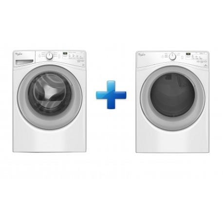 Whirlpool Paquete de lavadora y secadora con capacidad de 17 kg y acceso frontal Blanco - Envío Gratuito
