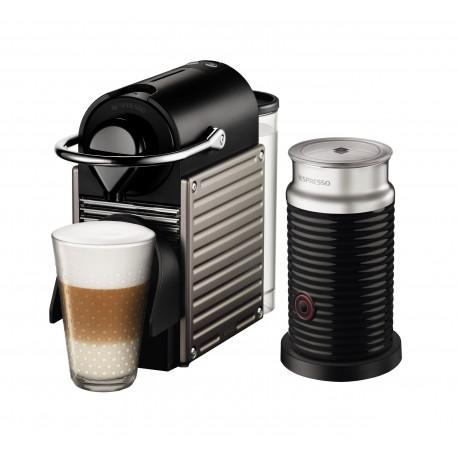 Nespresso Combo Pixie Titan Aeroccino Negro - Envío Gratuito