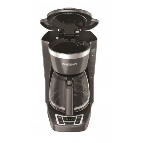Black & Decker Cafetera programable capacidad de 12 tazas Gris - Envío Gratuito