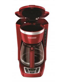 Black & Decker Cafetera programable capacidad de 12 tazas Rojo