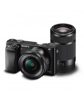Sony Cámara ILCE-6000 + SEL55210 /SELP1650 Negro - Envío Gratuito