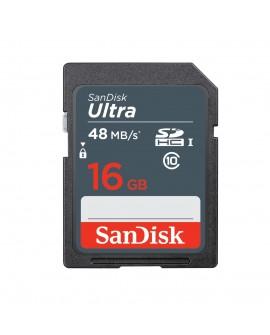 Sandisk Tarjeta SD Ultra UHS-I 16GB Negro - Envío Gratuito