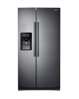 Samsung Refrigerador Dúplex de 25 pies cúbicos Acero inoxidable negro