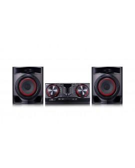 LG Minicomponente audio Hi-Fi con Karaoke CJ44 Negro - Envío Gratuito