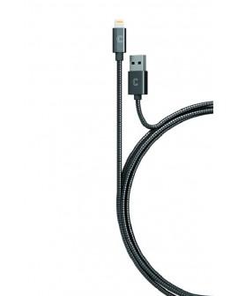 Candywirez Cable Lightning Negro Metálico - Envío Gratuito