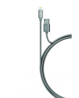 Candywirez Cable Lightning Plata Metálico - Envío Gratuito