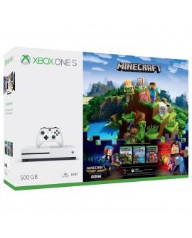 Microsoft XONE S Consola 500GB Minecraft + Live 3M Blanca - Envío Gratuito