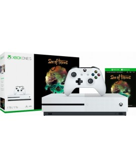 Microsoft Xbox One S Consola 1TB Sea of Thieves Blanca - Envío Gratuito
