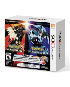 3DS Pokemon Ultra Sun & Pokemon Ultra Moon Veteran Trainer´s Dual Pack - Envío Gratuito