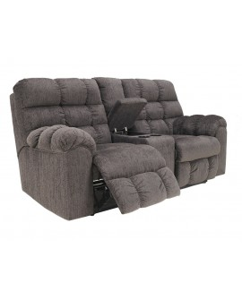 Ashley Furniture Acieona Loveseat Reclinable Con consola Gris - Envío Gratuito