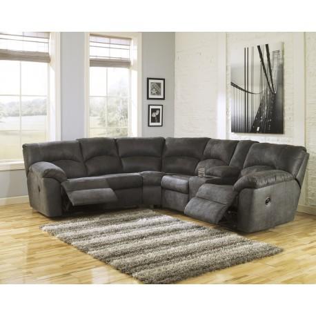 Ashley Furniture Sala de 2 piezas reclinable Pewter Gris - Envío Gratuito