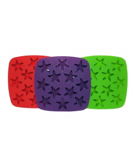Charola para cubos de hielo en forma de estrella Distintos colores - Envío Gratuito