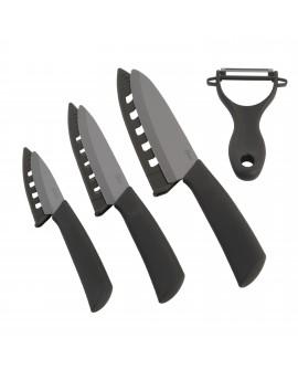 Oster Cuchillos de acero inoxidable con recubrimiento en cerámica Negro