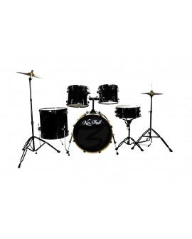 New Beat Batería acústica Negro - Envío Gratuito