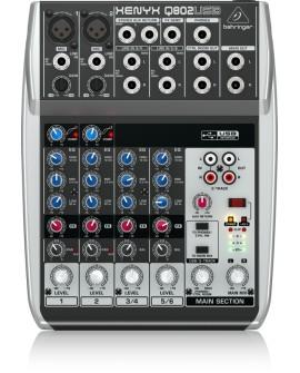 Behringer Mezcladora Q802-USB Negro - Envío Gratuito
