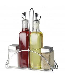 Home Basics Set de vinagrera con base 4 piezas