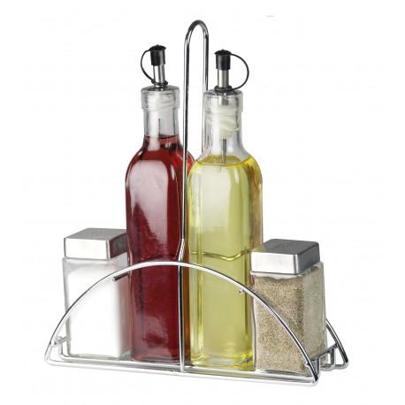 Home Basics Set de vinagrera con base 4 piezas - Envío Gratuito