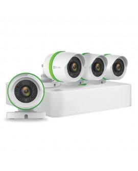 Ezviz DVR de 8 canales, 4 cámaras de 1080p y 1 TB de almacenamiento Blanco/Verde - Envío Gratuito