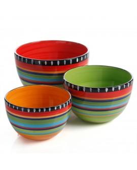 Gibson Set de 3 bowls redondos de cerámica