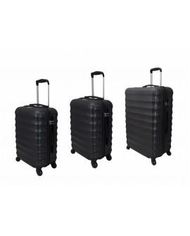 Peak Tour Set de 3 maletas spinner rigidas Helsinki Negro - Envío Gratuito