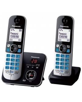 Panasonic Teléfono KX-TG6822 Doble con contestadora Negro - Envío Gratuito