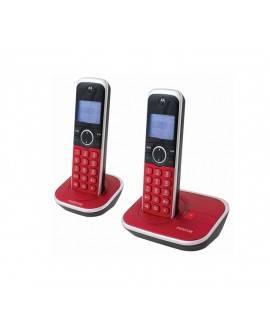 Motorola Teléfono Inalámbrico Gate 4800R-2 Rojo - Envío Gratuito