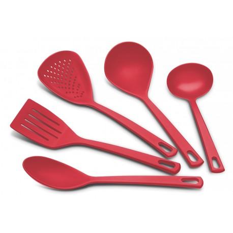 Tramontina Set de 5 utensilios básicos Rojo - Envío Gratuito