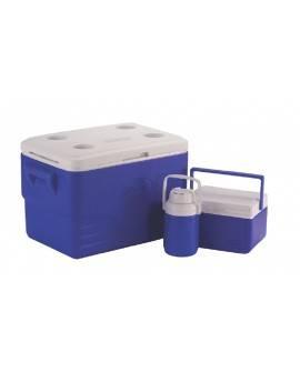 Coleman Combo Hielera 36 Qts Azul - Envío Gratuito