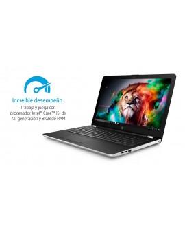 """HP Laptop 15 bs015la de 15.6"""" Core i5 AMD Radeon 520 Memoria de 8 GB Disco Duro de 1 TB Plata"""