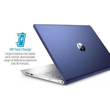 """HP Laptop Pavilion 15 cd005la de 15.6"""" AMD 12 AMD Radeon 530 Memoria 12 GB Disco Duro 1 TB Azul - Envío Gratuito"""