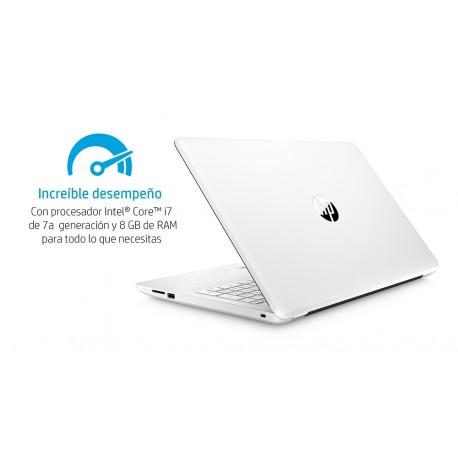 """HP Laptop 15 bs020la de 15.6"""" Core i7 AMD Radeon 530 Memoria 8 GB Disco Duro 1 TB Blanco - Envío Gratuito"""