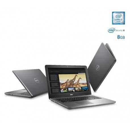 """Dell Laptop INSPIRON 5567 G de 15.6"""" Core i7 Memoria de 8 GB Disco duro de 2 TB Gris - Envío Gratuito"""
