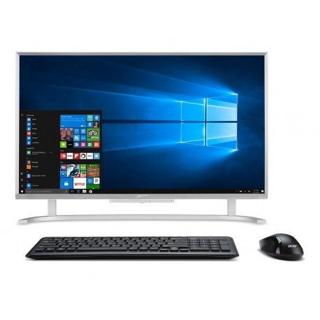 "Acer All in One Aspire AC22 760 MD11 de 21.5"" Core i3 Memoria de 4 GB Disco Duro de 1 TB Plata - Envío Gratuito"