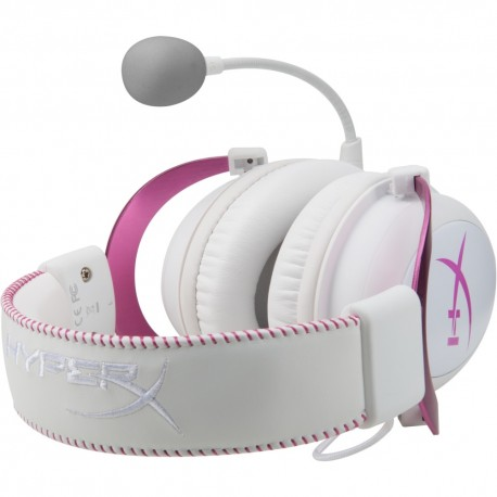 Kingston Audífonos HyperX Cloud II Rosa/Blanco - Envío Gratuito