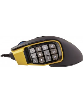 Corsair Mouse Gaming Scimitar RGB CH 9000091 NA Negro/Amarillo