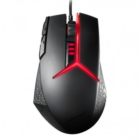 Lenovo Mouse Gaming Y Negro/Rojo - Envío Gratuito